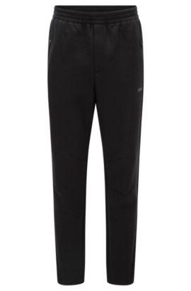 Pantalon Slim Fit en tissu double face, Noir
