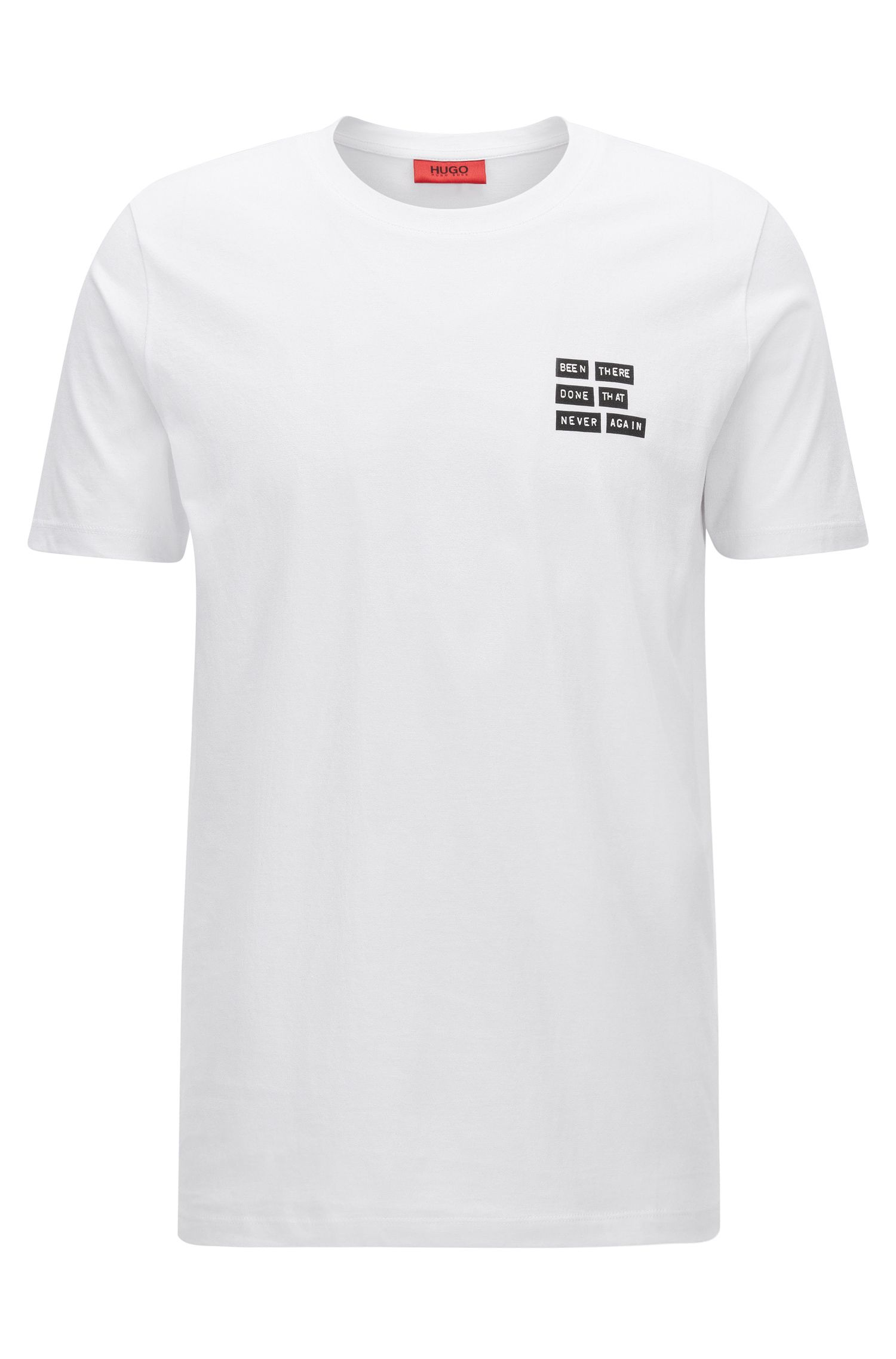 Regular-fit jersey T-shirt with placed print
