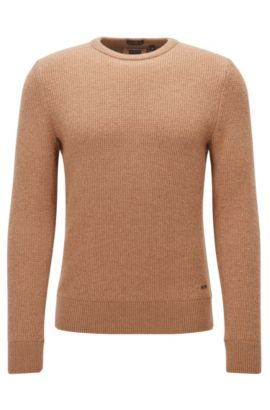 Camel-hair long-sleeved sweater , Beige