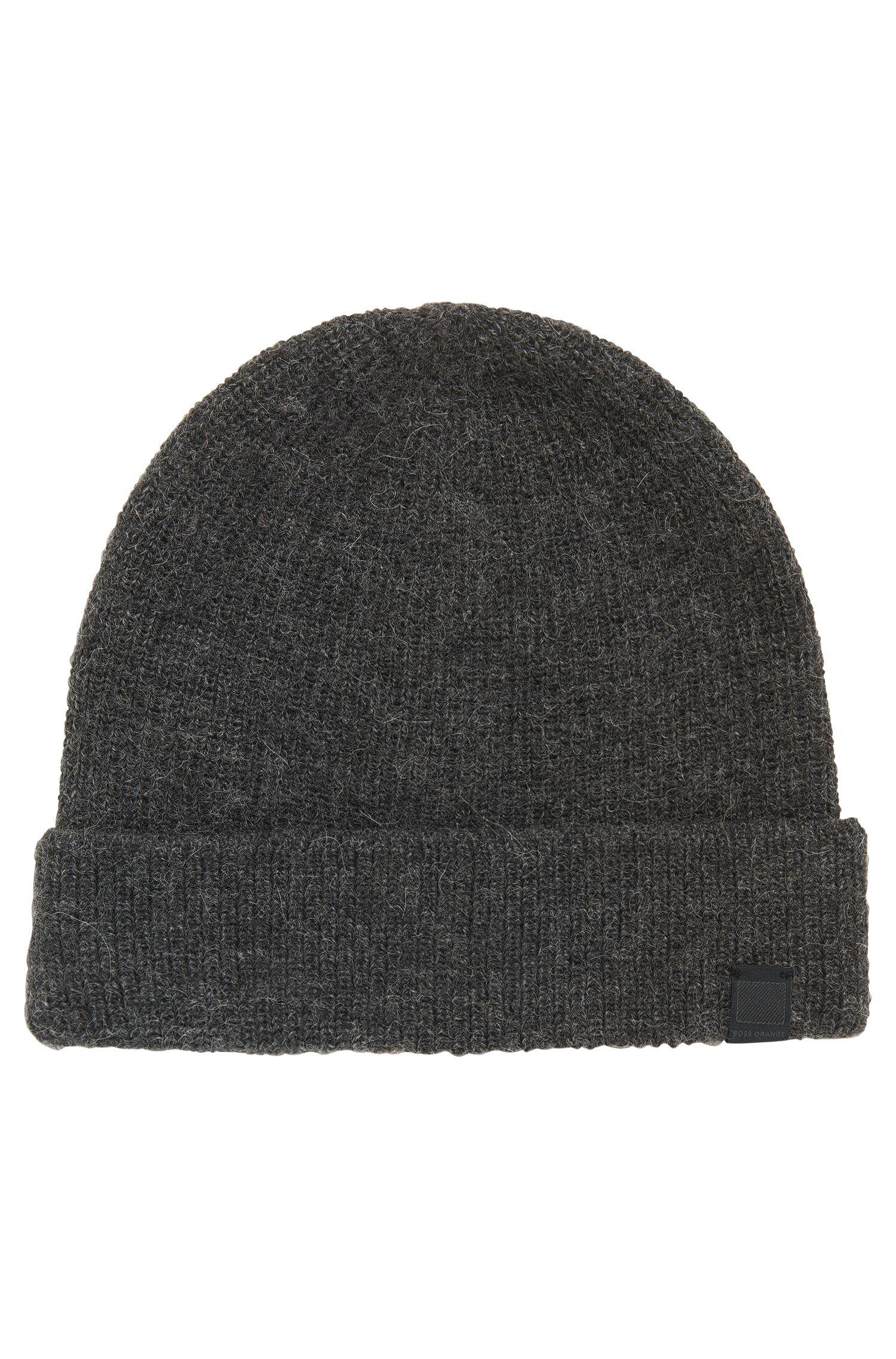 Alpaca yarn beanie hat