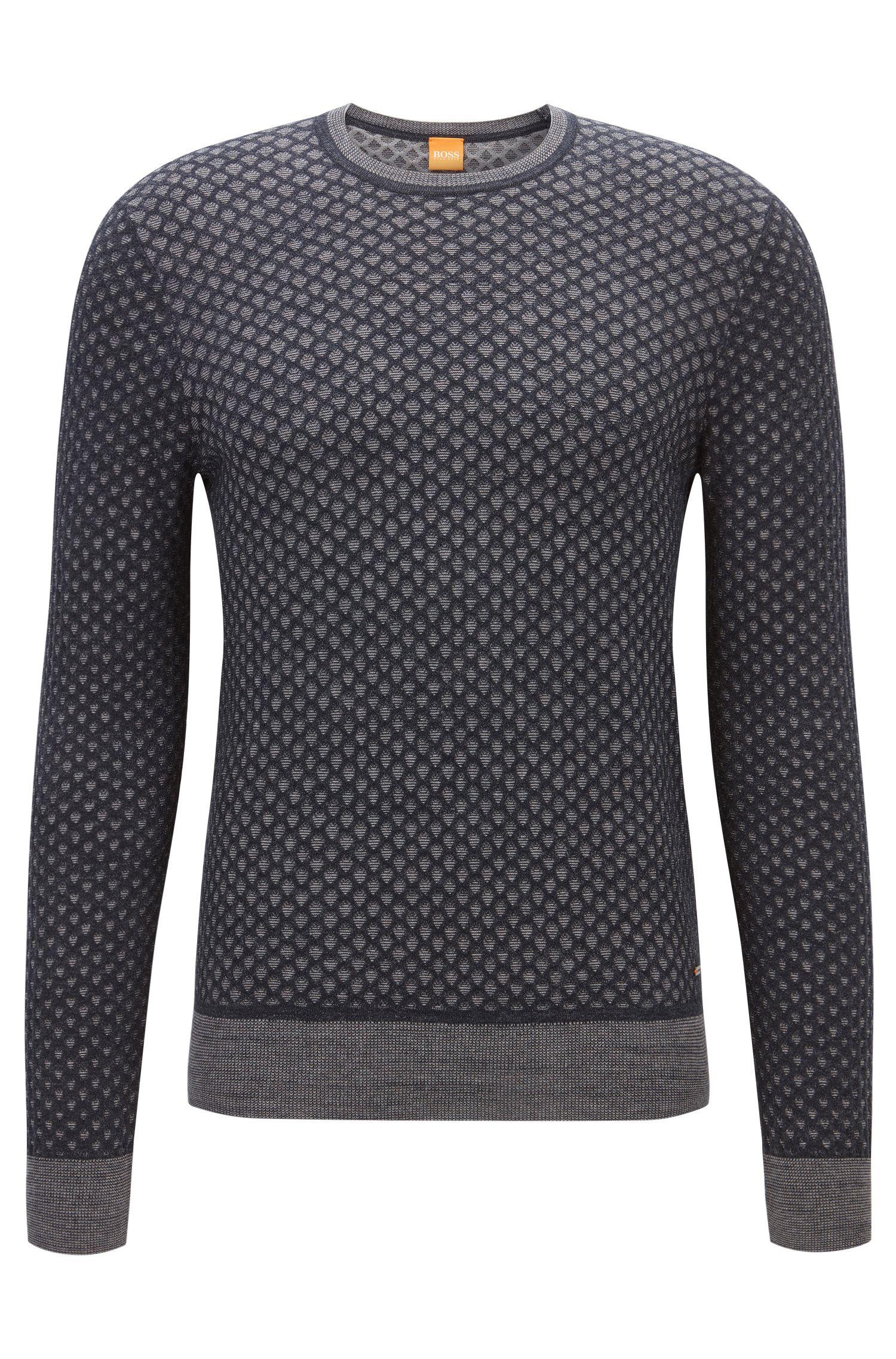 Regular-Fit Pullover aus Baumwolle mit 3D-Effekt