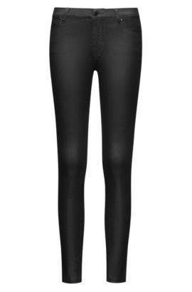 Extra-slim-fit jeans in coated denim, Black