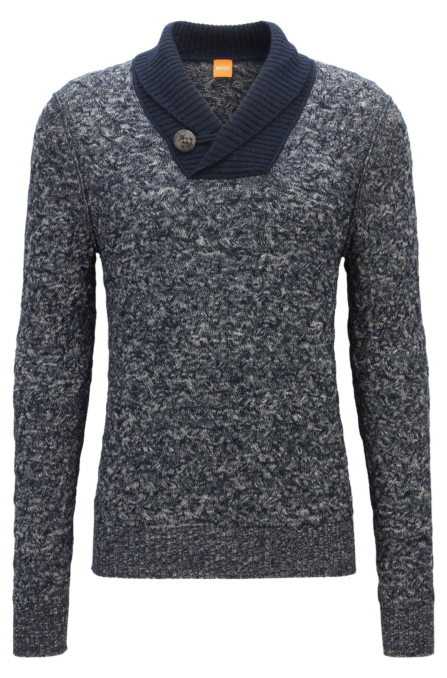Regular-Fit Pullover aus Baumwoll-Mix mit Schurwolle und Alpaka