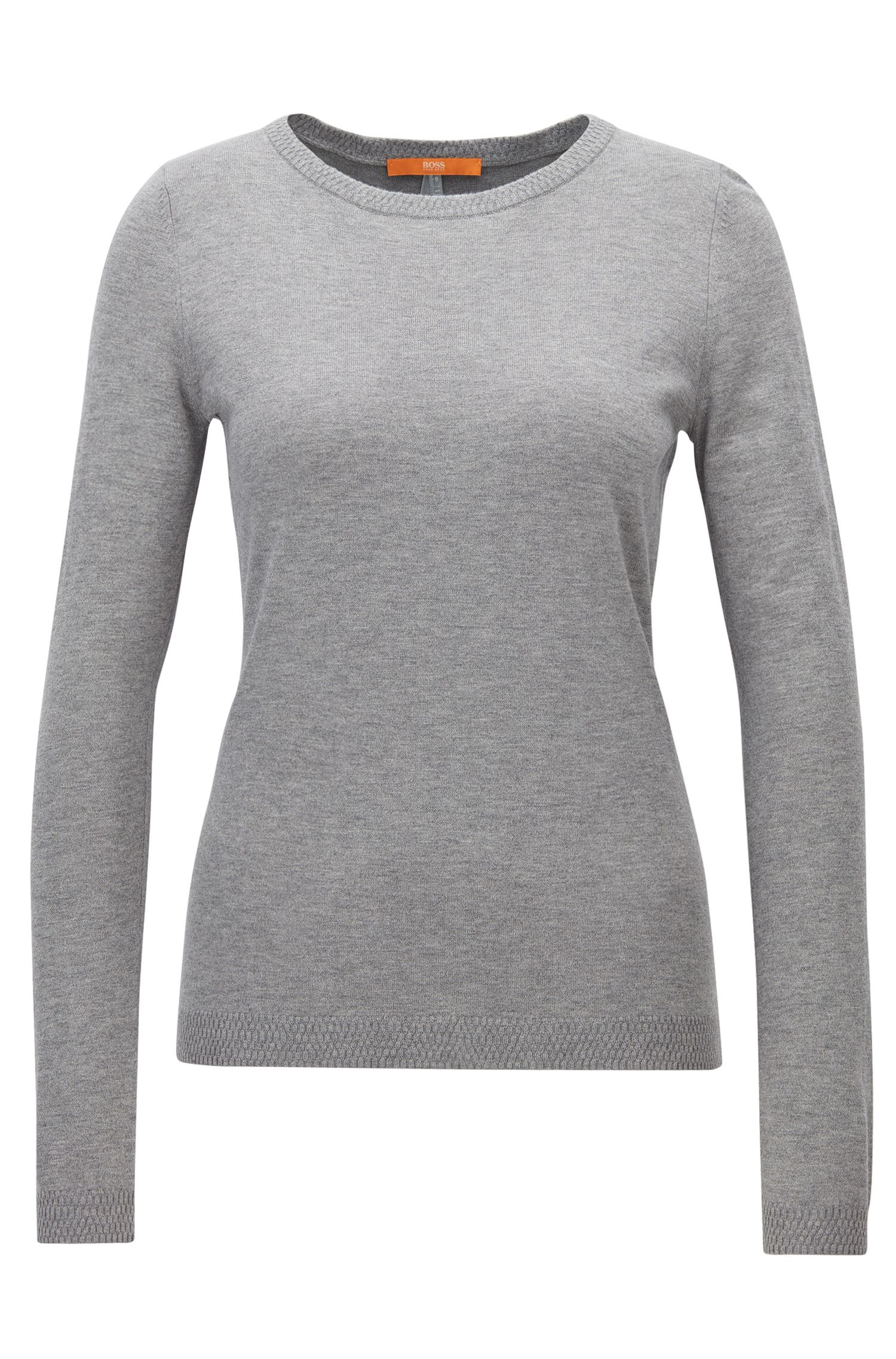 Slim-fit sweater in single jersey blend