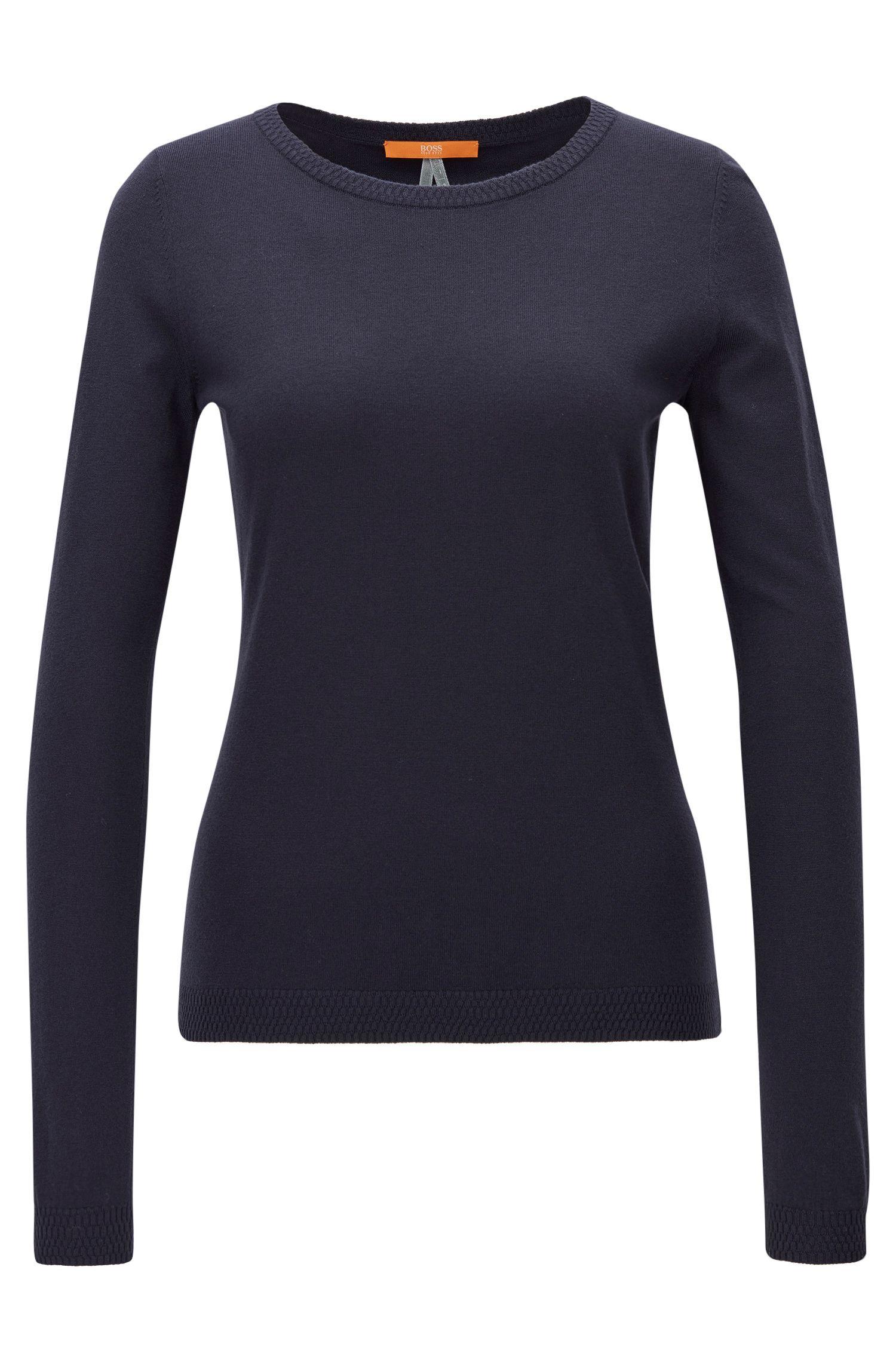 Slim-fit sweater in single jersey blend