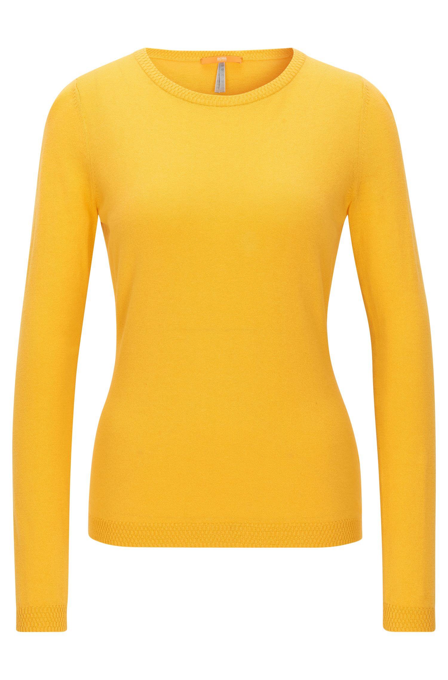 Maglione slim fit in misto jersey singolo