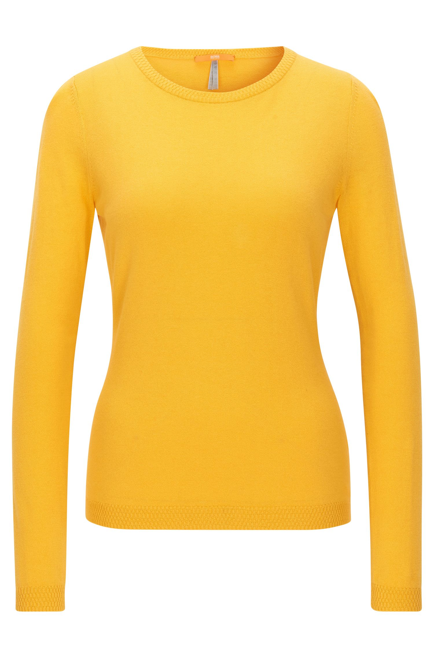 Pull Slim Fit en jersey simple mélangé