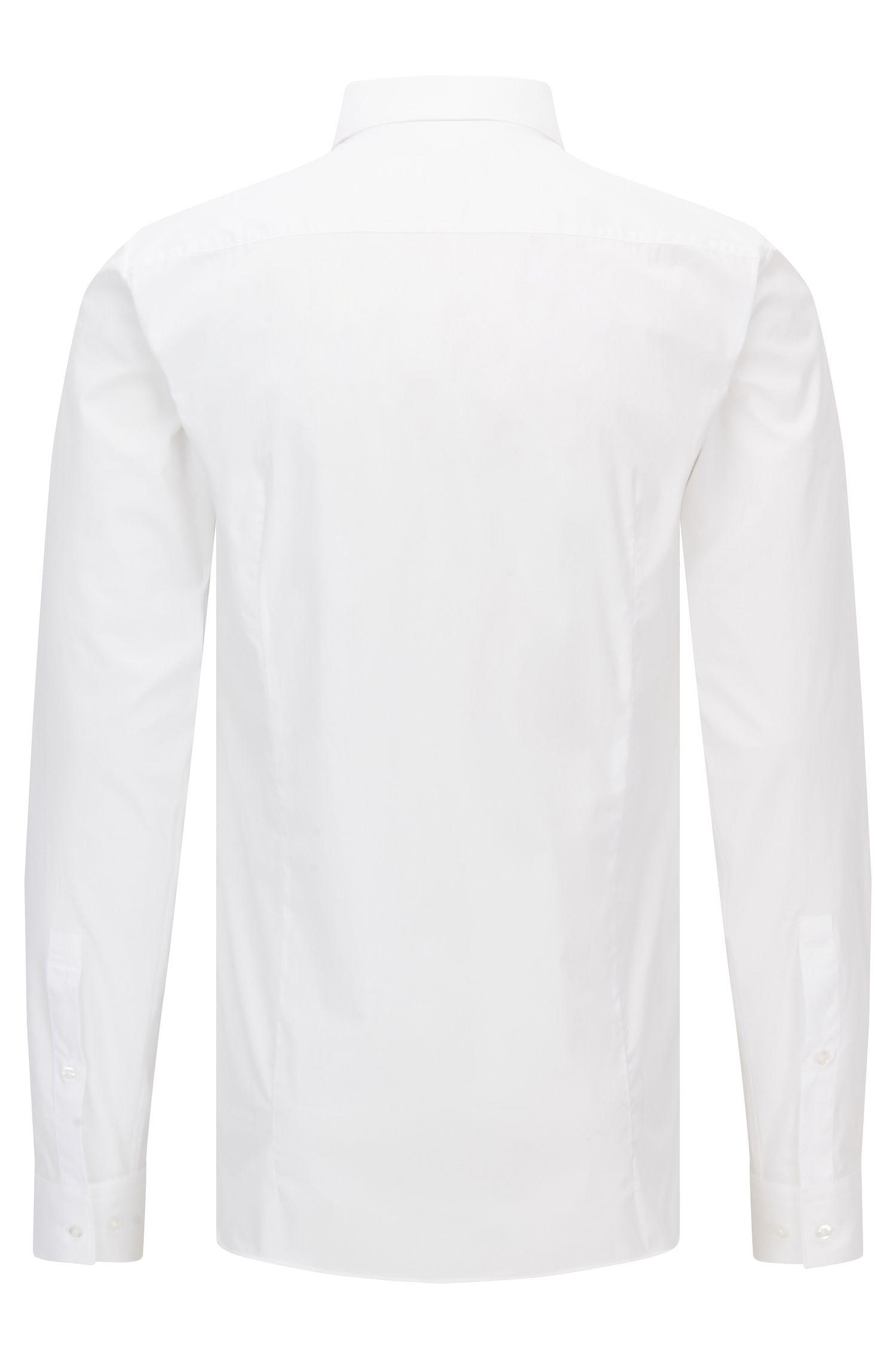 Extra slim-fit overhemd van popeline van stretchkatoen