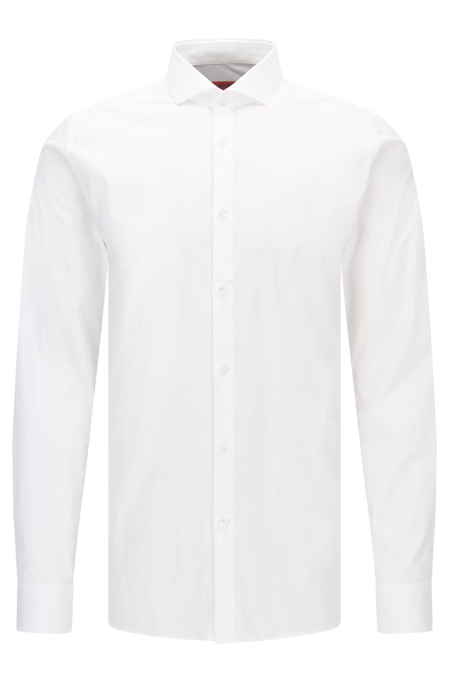 Extra-Slim-Fit-Hemd aus elastischer Baumwoll-Popeline