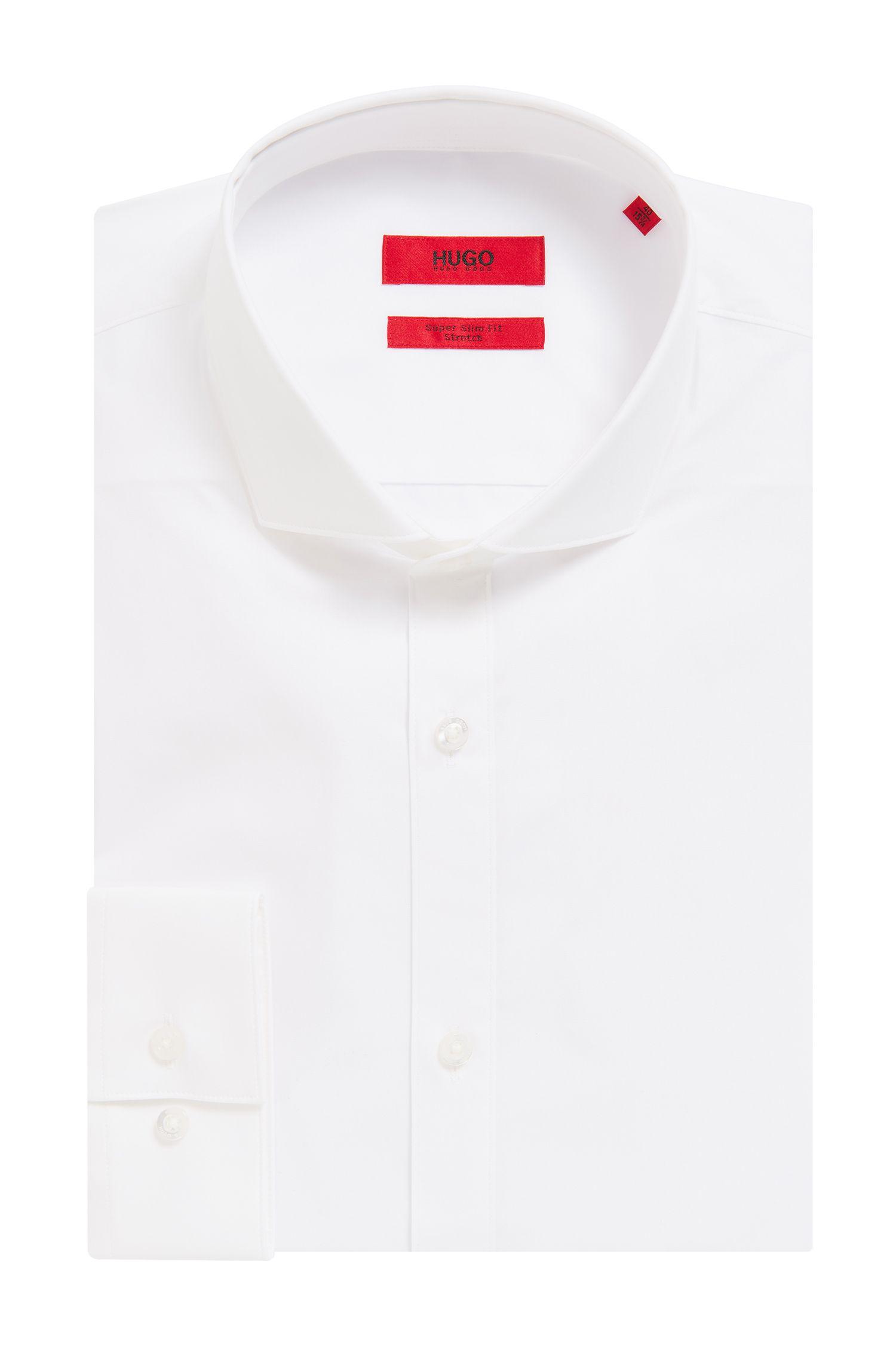 Extra Slim-Fit Hemd aus elastischer Baumwoll-Popeline