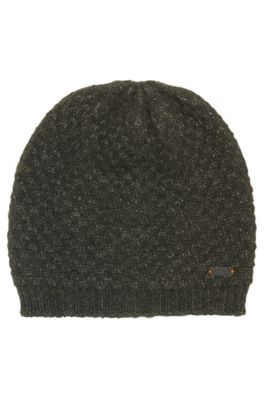 Structured knitted beanie , Khaki