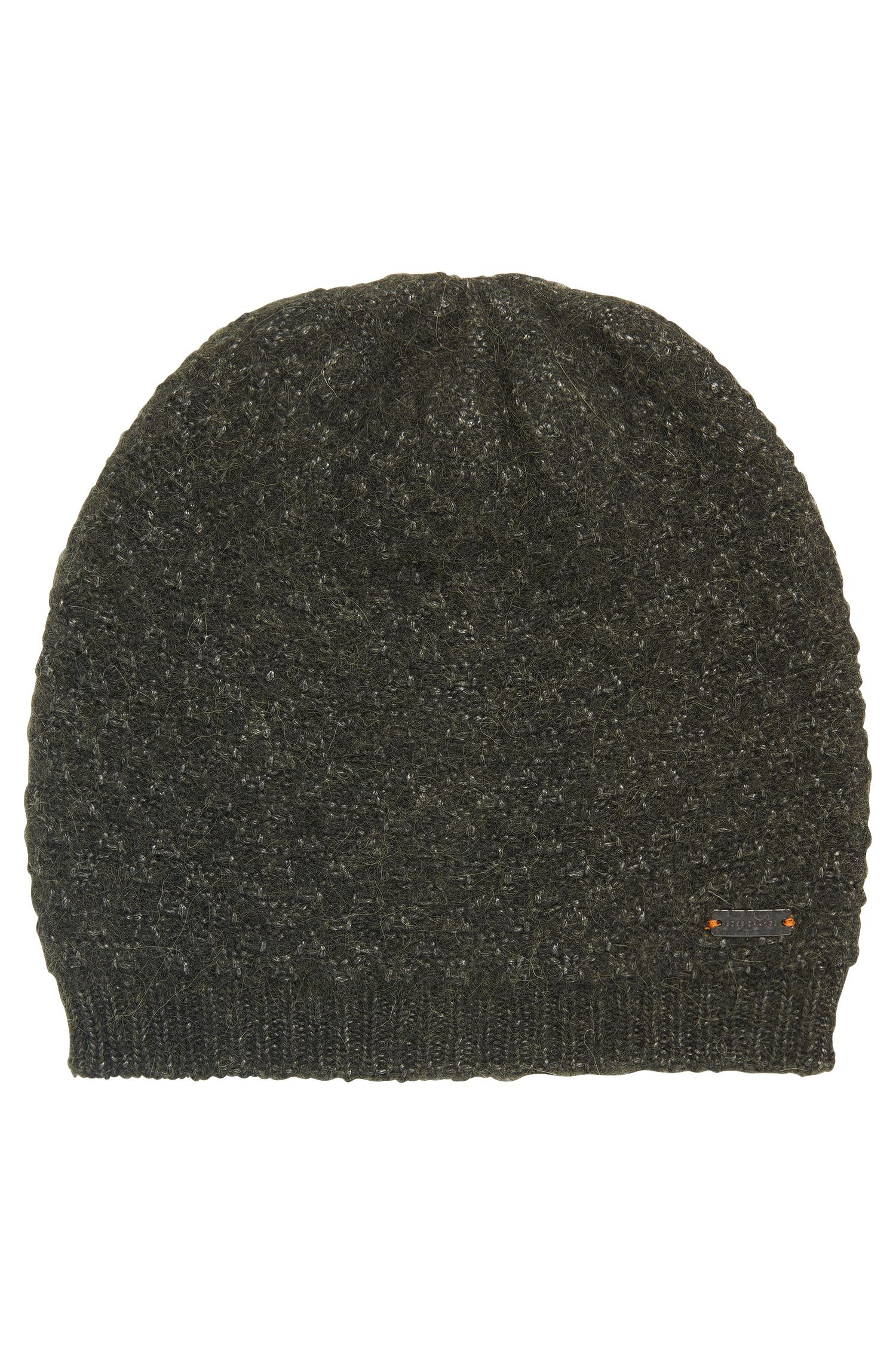 Structured knitted beanie