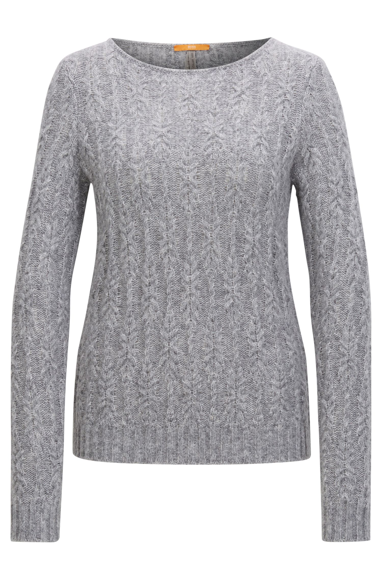 Regular-fit sweater in a reworked cable knit