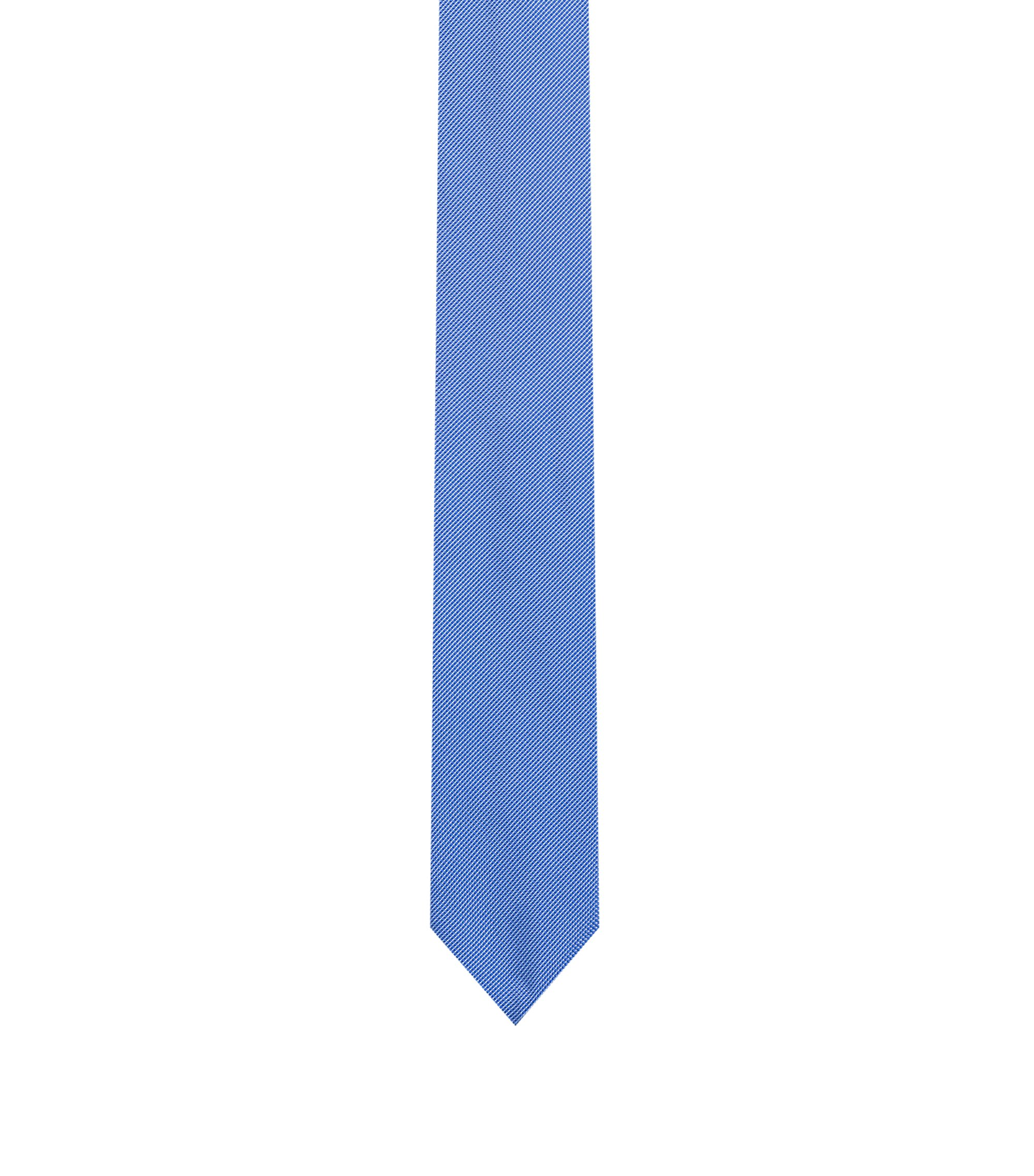 Pure-silk tie in micro-dot jacquard, Blue