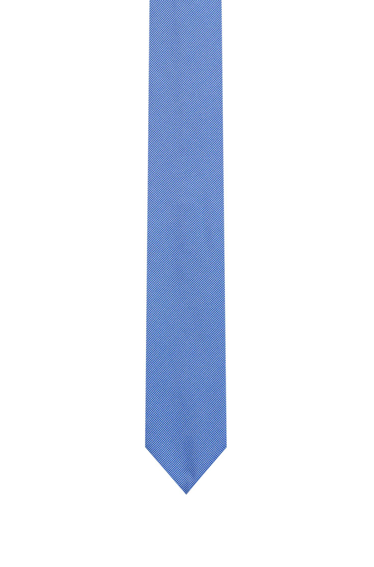 Pure-silk tie in micro-dot jacquard