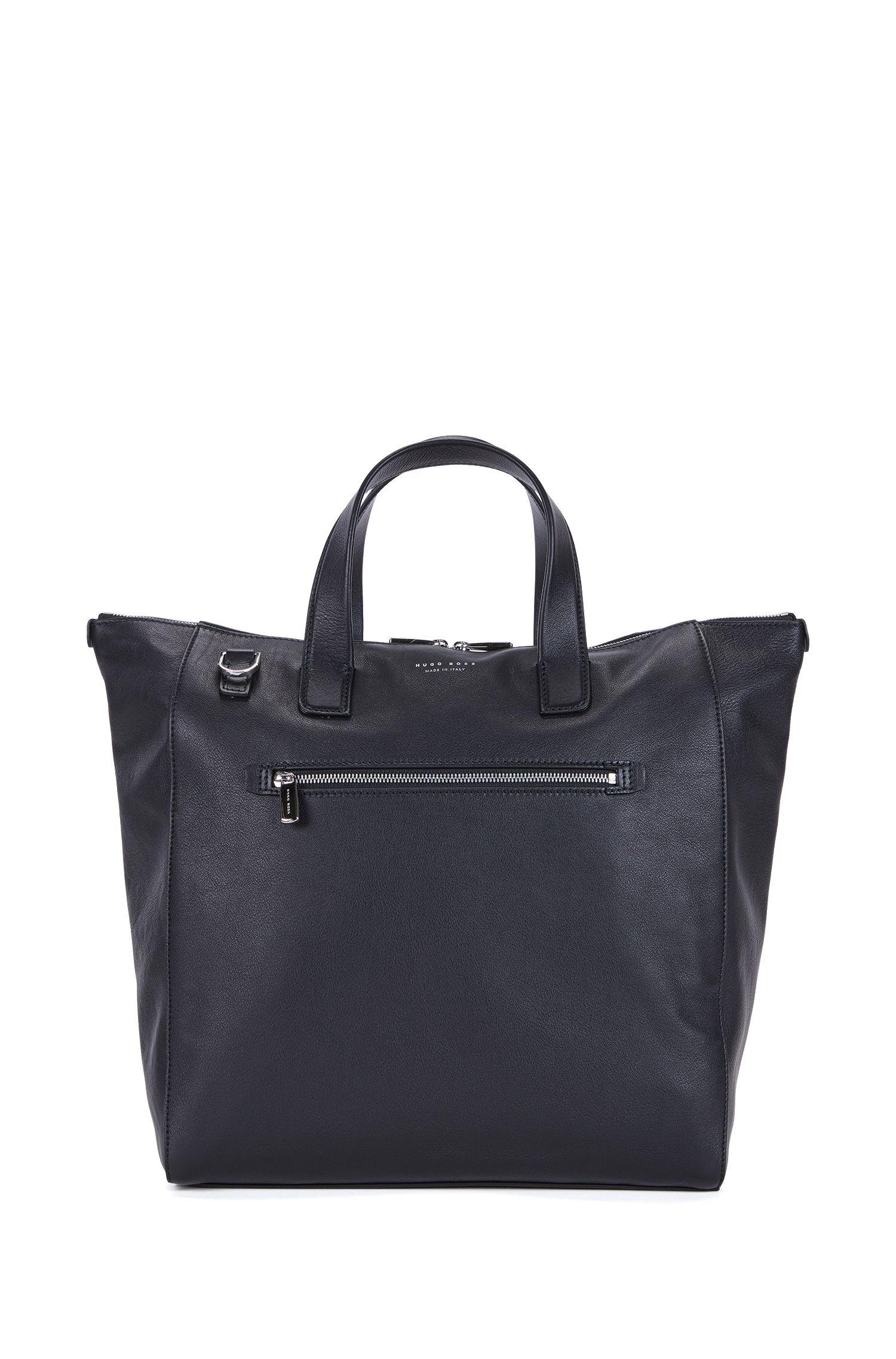 Tote Bag aus Leder mit verstellbarem Schulterriemen