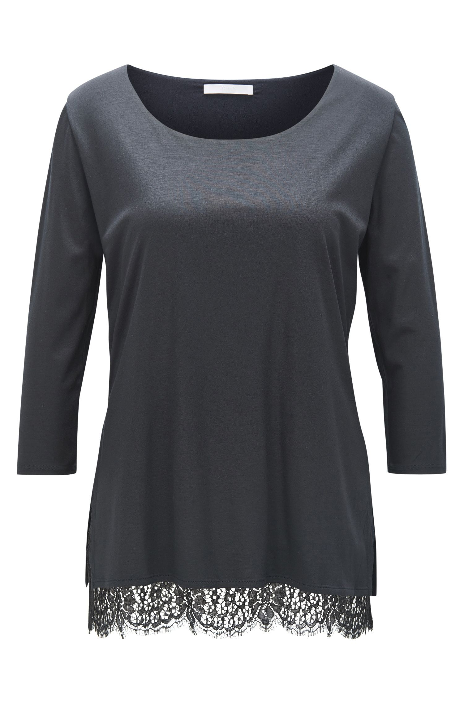 Regular-Fit Top aus weichem Modal