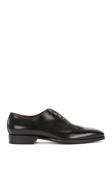Oxford shoes in burnished leather, Black
