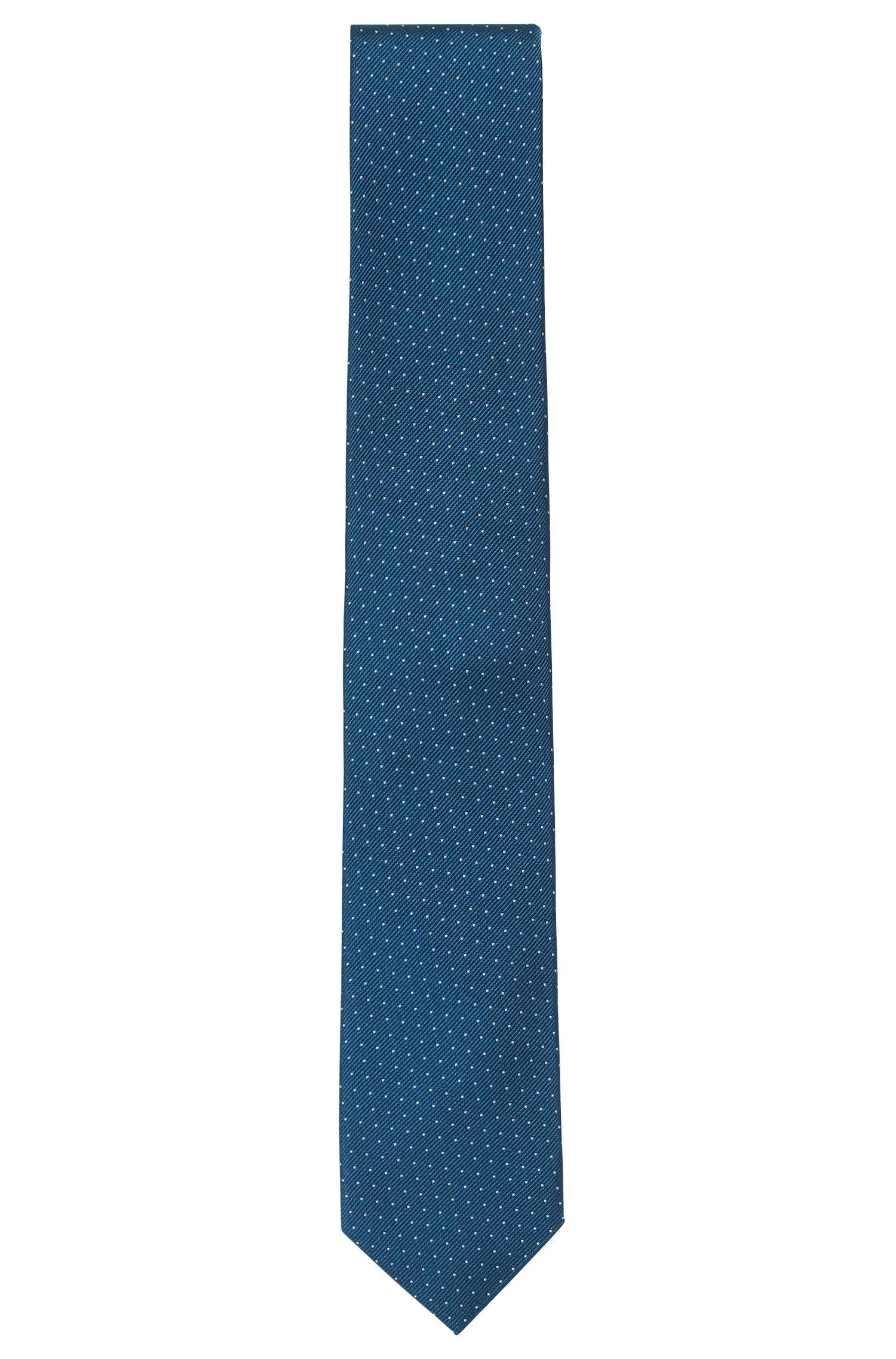 Cravatta con micropois in seta pregiata