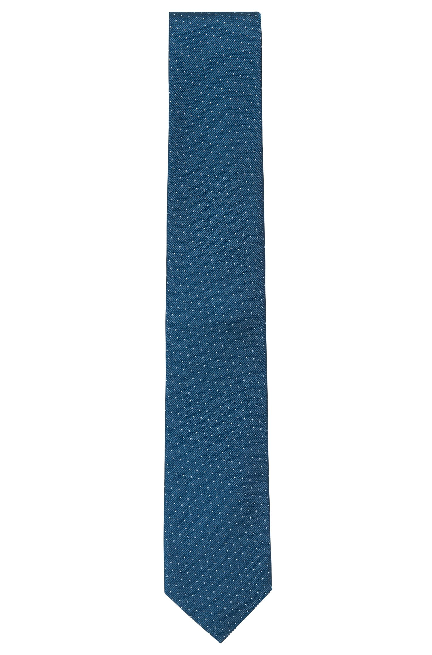 Micro-dot tie in rich silk