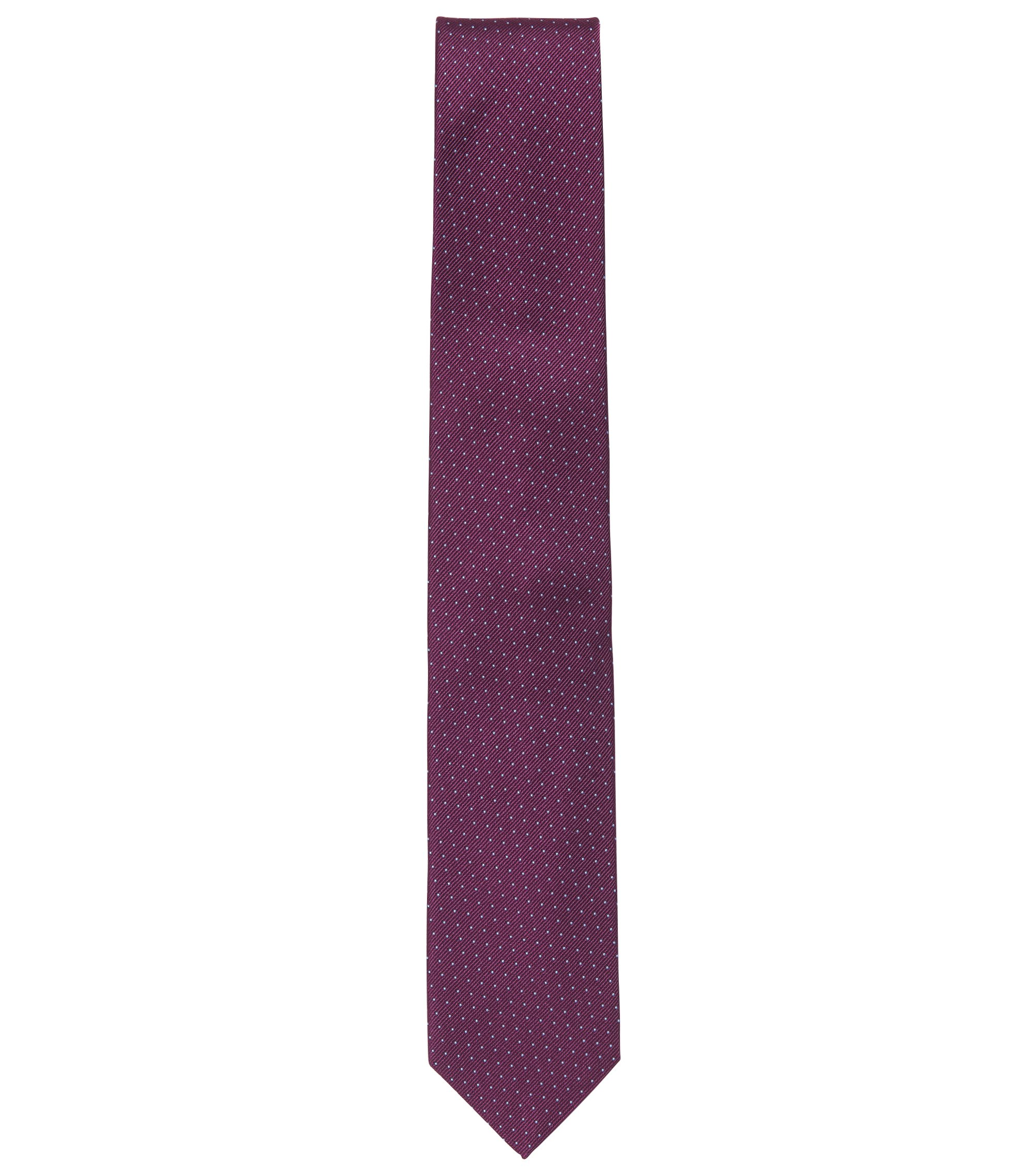 Micro-dot tie in rich silk, Dark pink