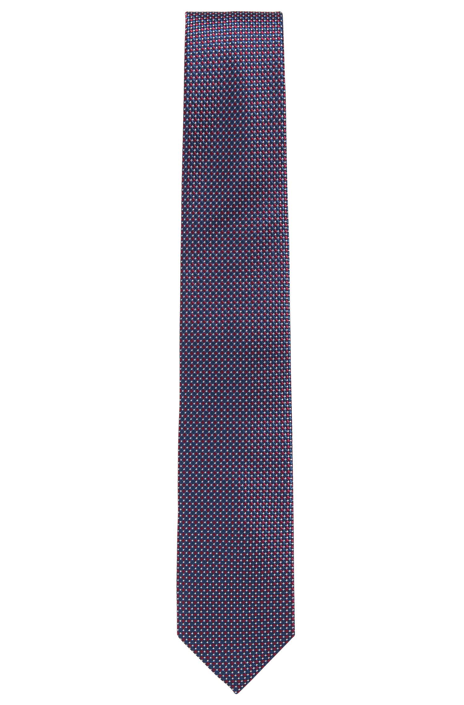 Cravatta con microdisegni in seta pregiata