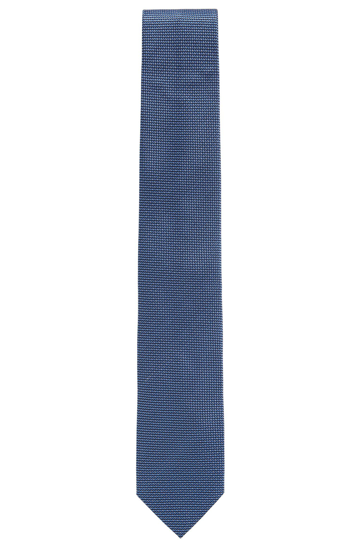 Cravate jacquard à micro-motif en pure soie
