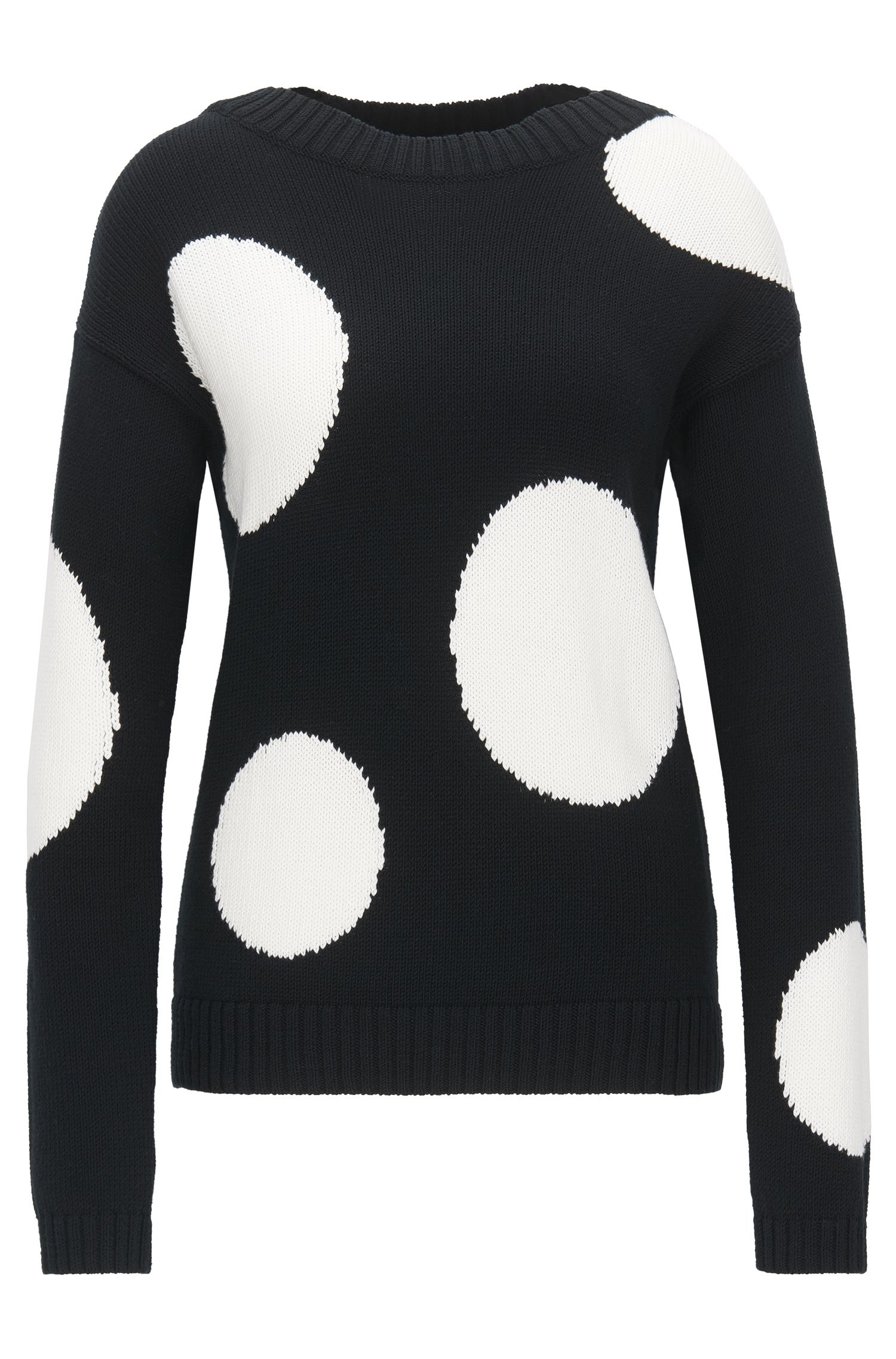 Relaxed-fit sweater in knitted cotton