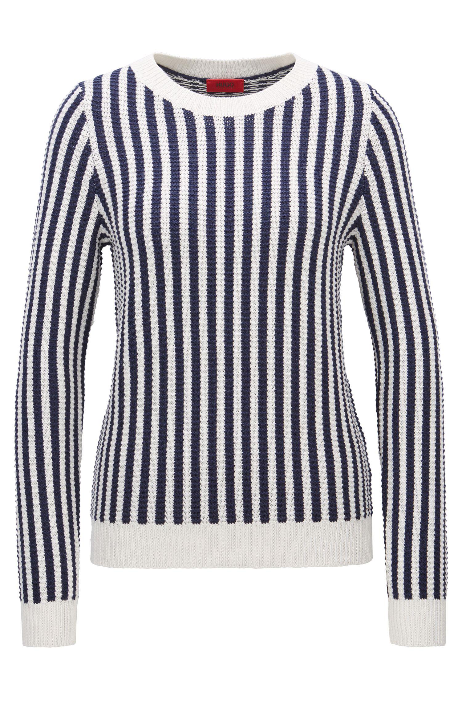 Regular-Fit Pullover aus Baumwoll-Mix mit Seide