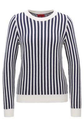 Maglione regular fit in misto cotone, A disegni