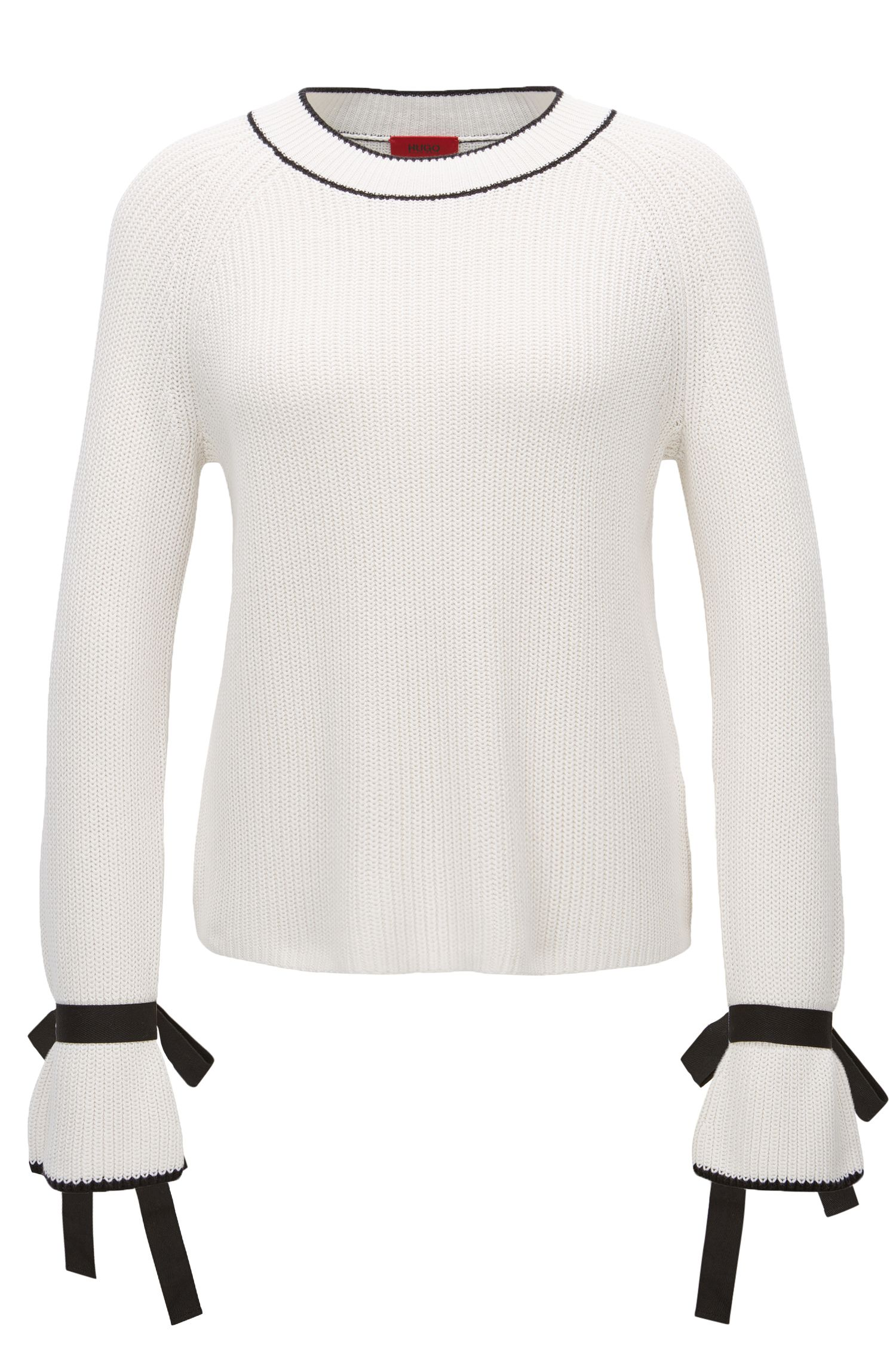 Regular-Fit Pullover aus Baumwoll-Mix mit Seide