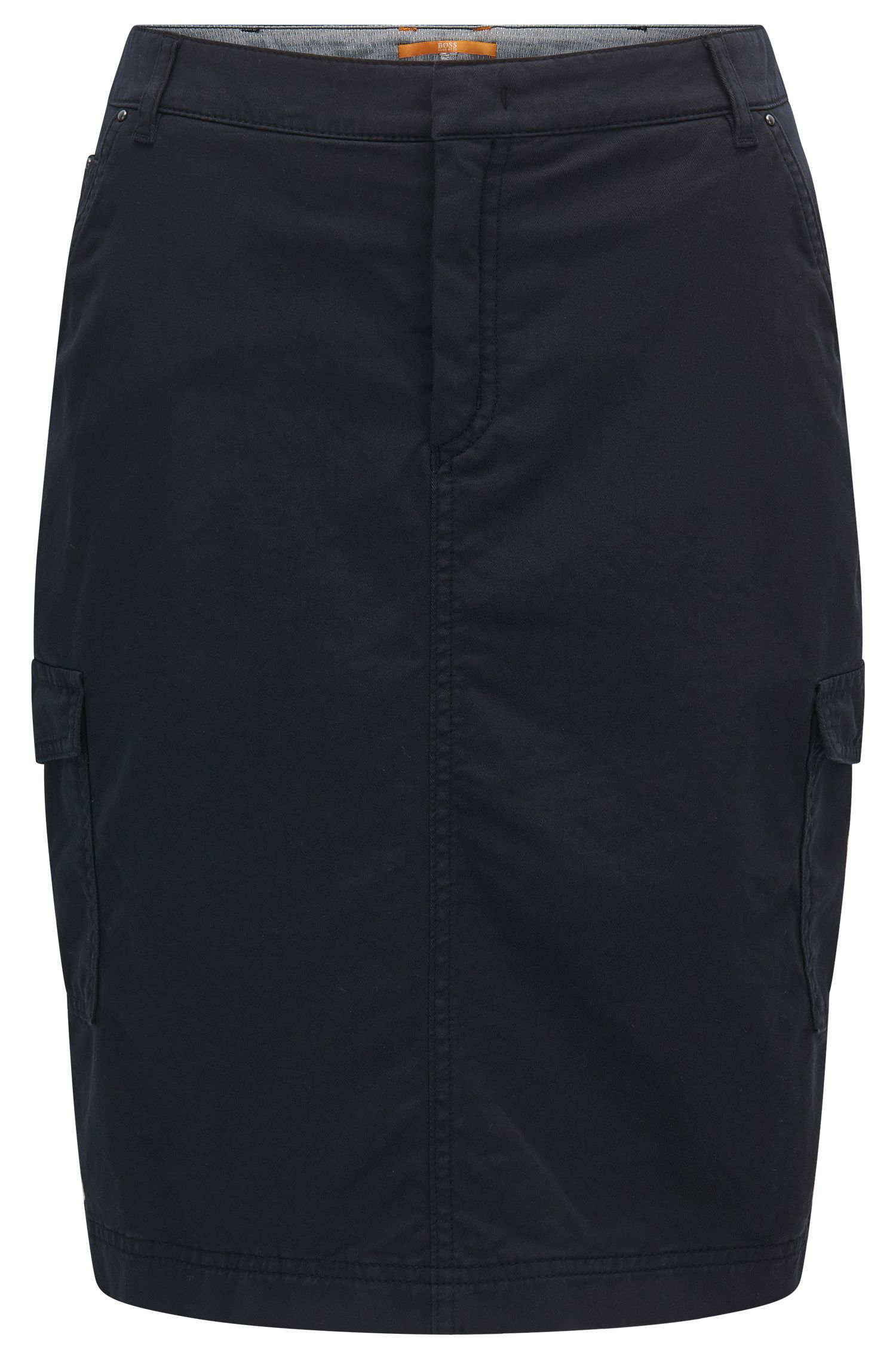Slim-fit pencil skirt in a cotton blend