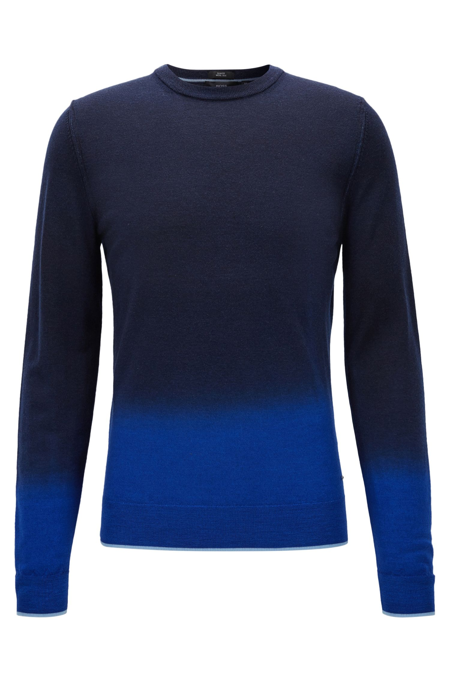 Slim-fit dip-dye sweater in a wool blend