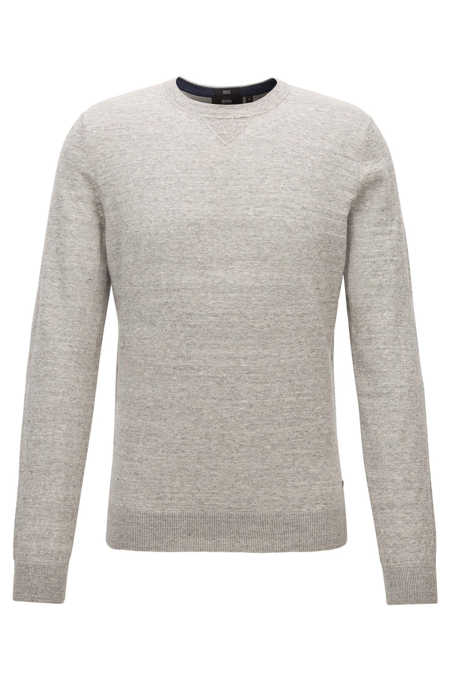 Jersey slim fit en punto de algodón