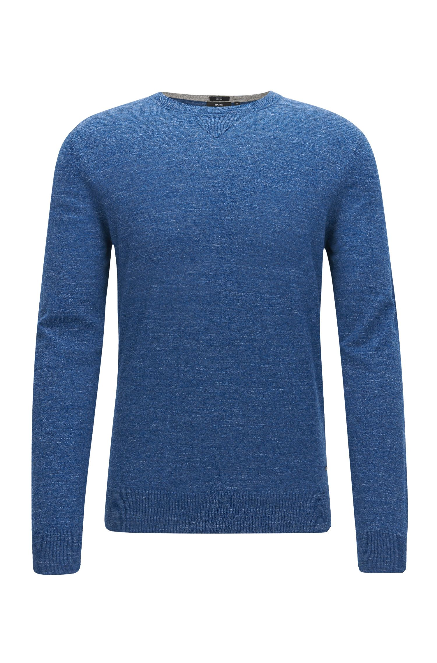 Maglione slim fit in jersey di cotone