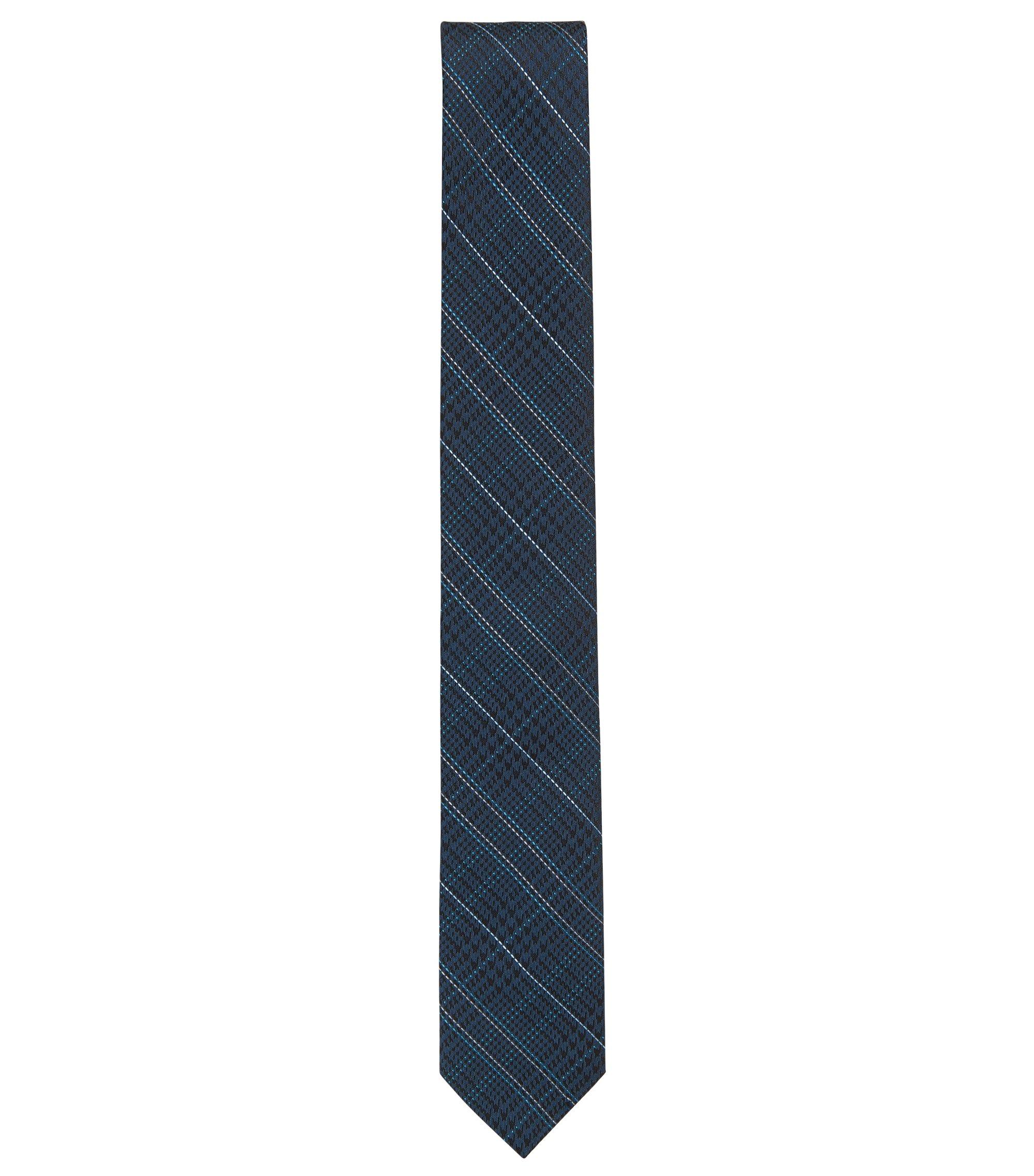 Cravatta principe di Galles in jacquard di seta, Blu scuro