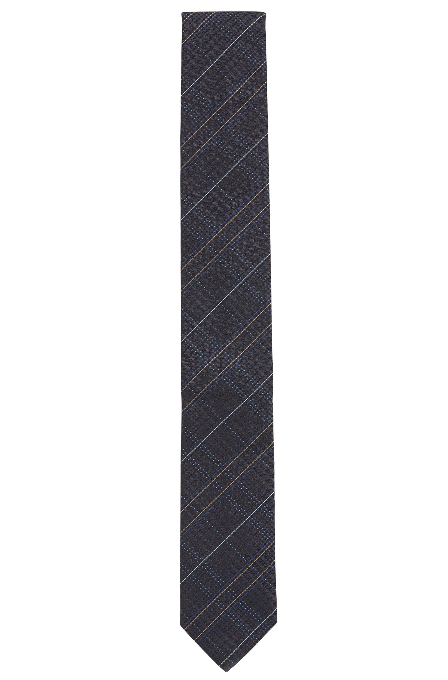Glen plaid tie in silk jacquard