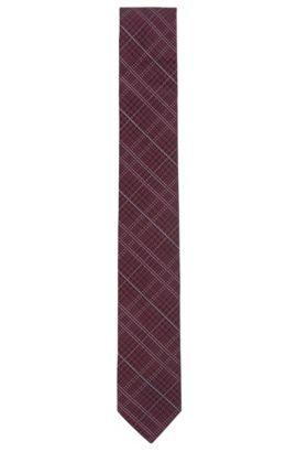 Cravate en jacquard de soie à motif prince-de-galles, Rose foncé