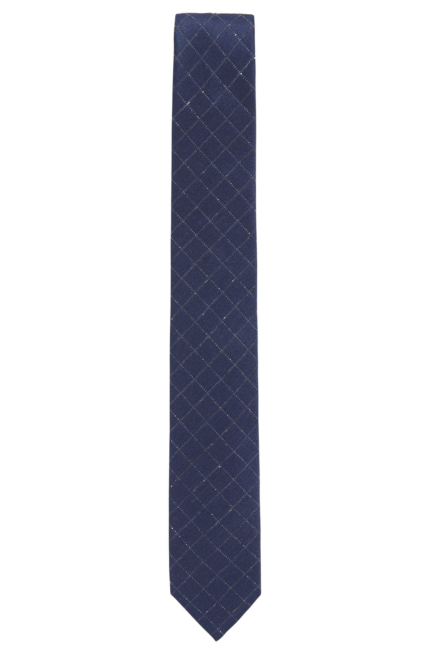 Cravate en soie mélangée à motif diamant