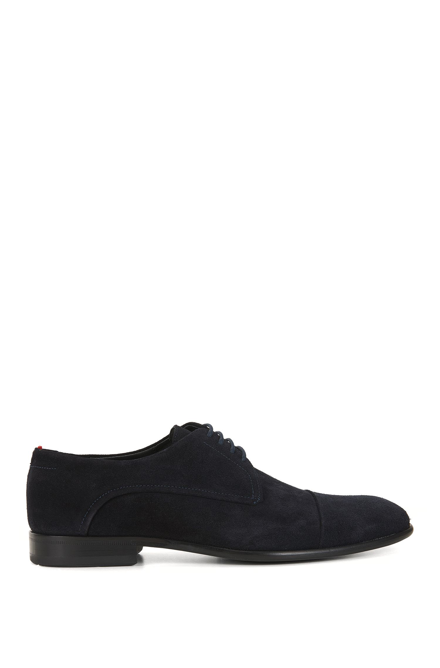 Lace-up Derby shoes in Italian suede