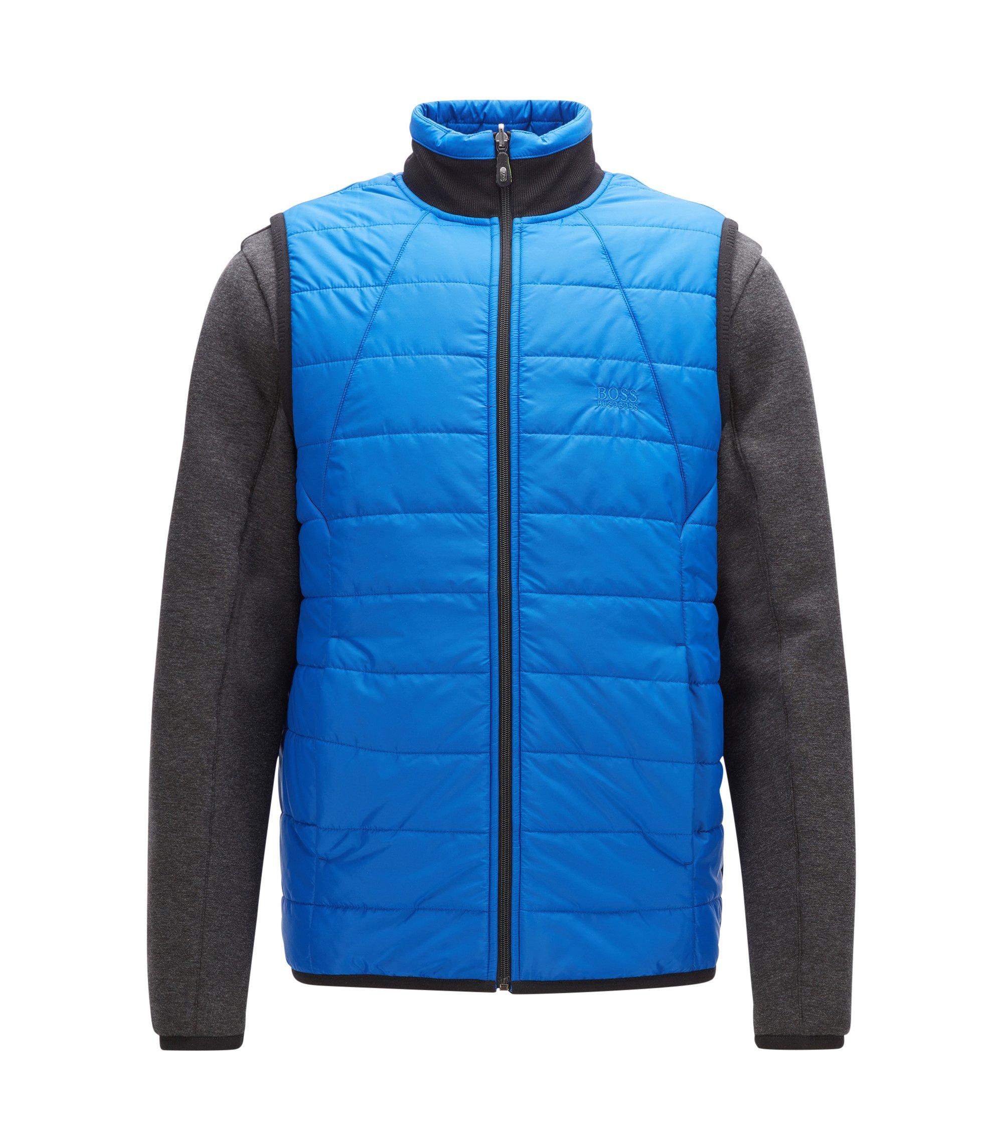Regular-fit, aan twee zijden draagbaar jack met gewatteerd gilet, Blauw