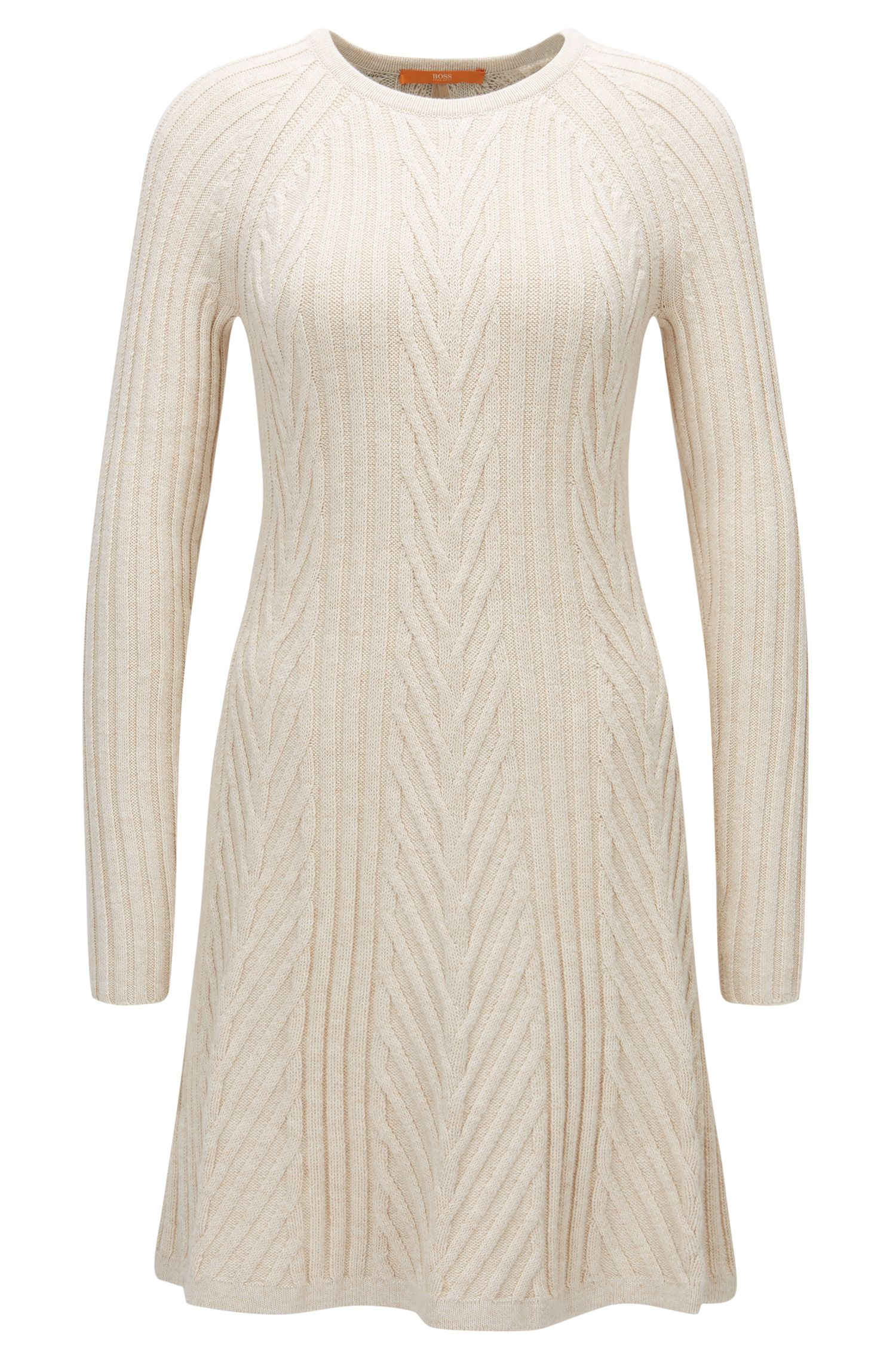 Long-sleeved dress in a cotton mix