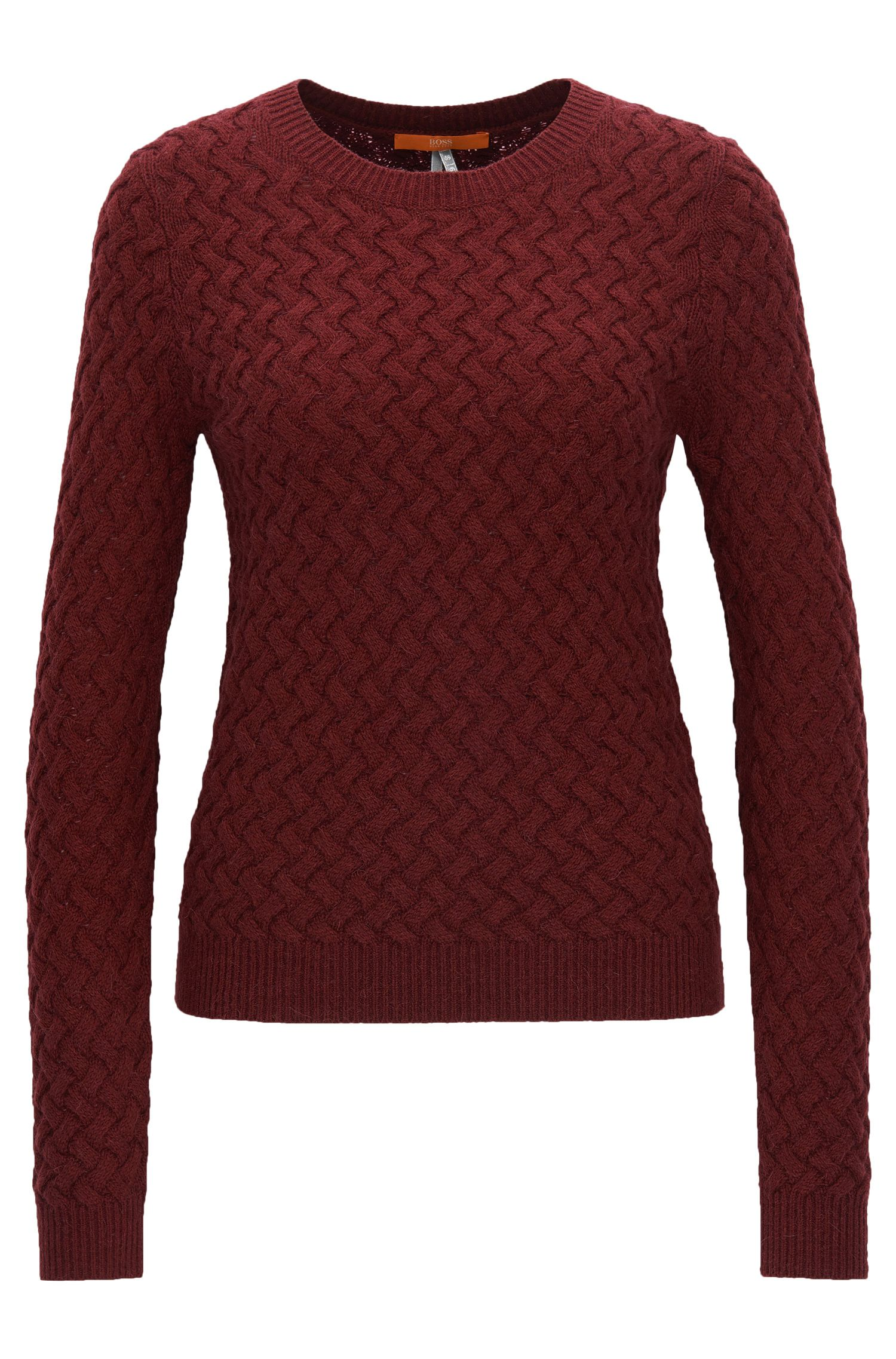 Structured-knit sweater in a wool blend