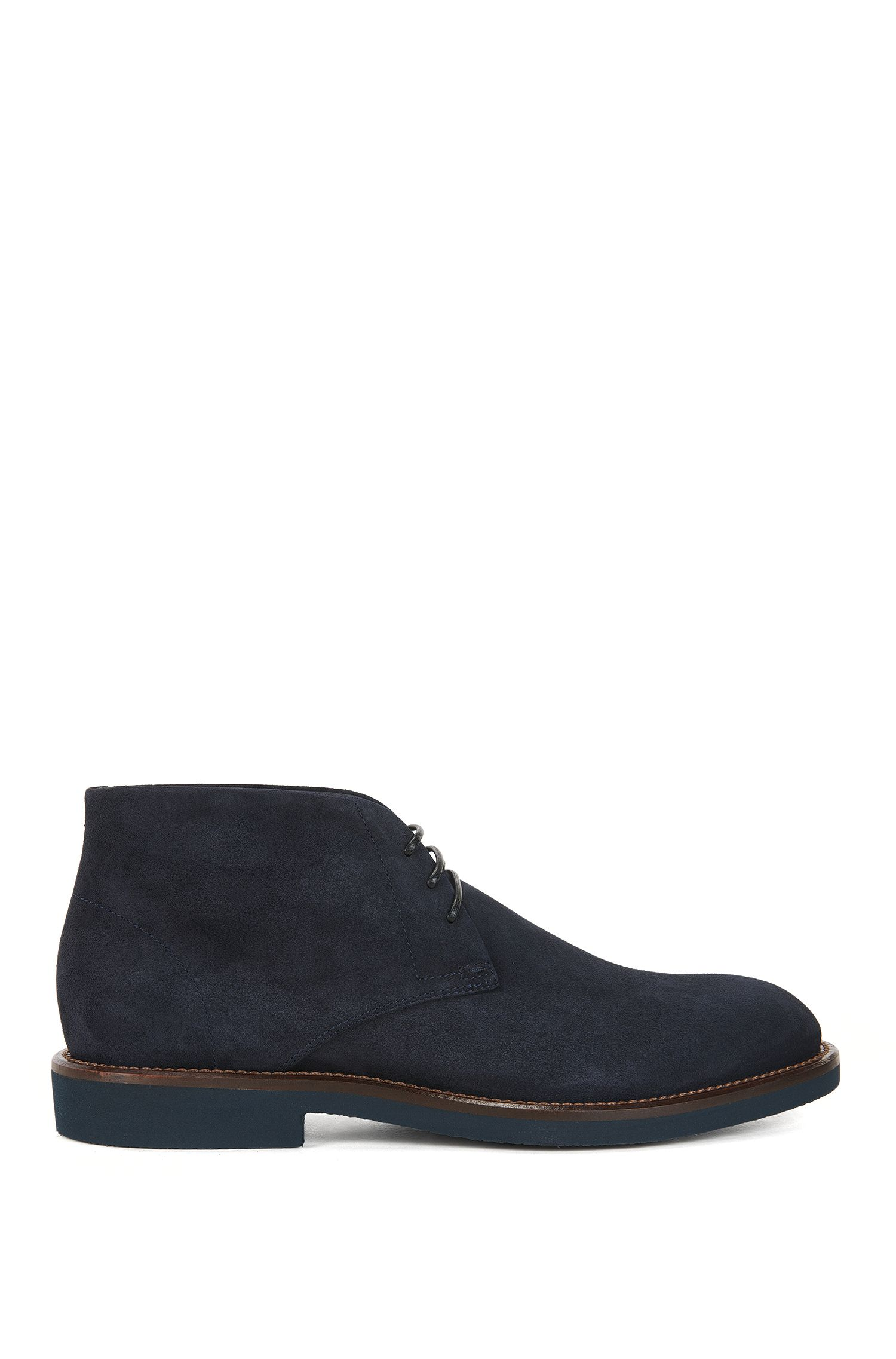 Desert boot stringati in morbida pelle scamosciata
