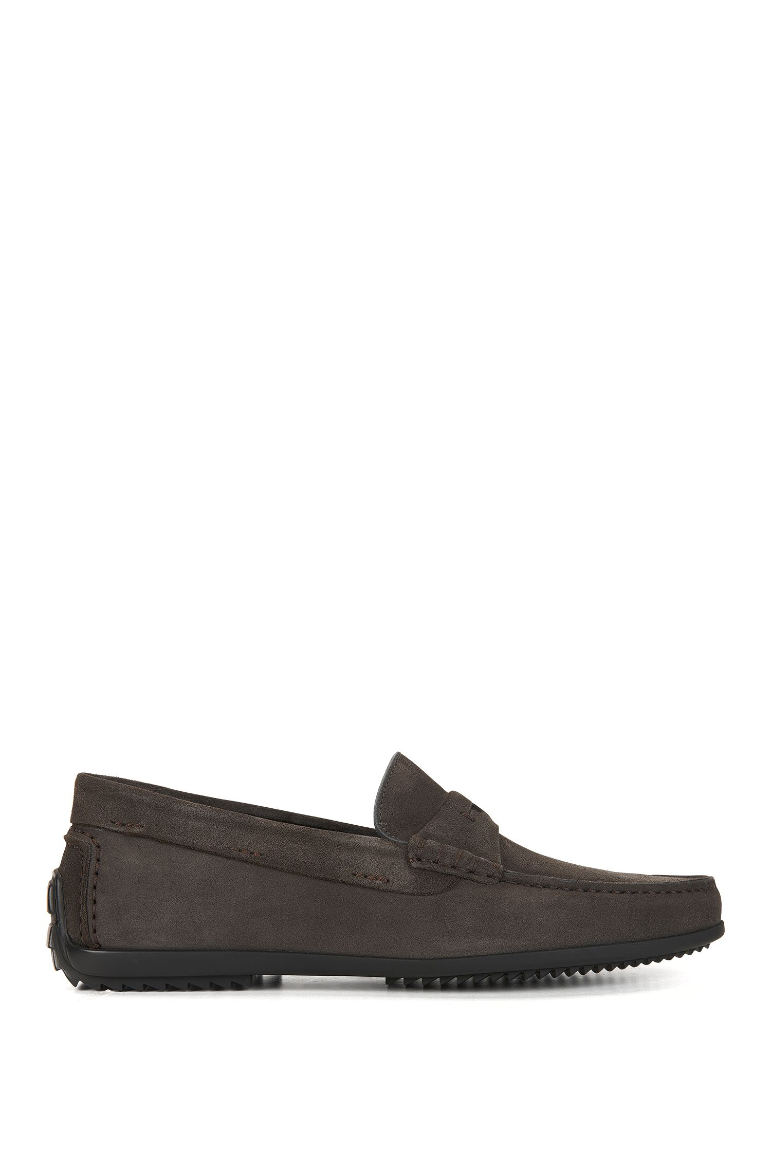 Penny moccasins in soft suede