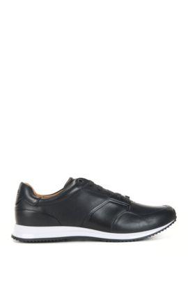 Sneakers aus Leder, Dunkelblau