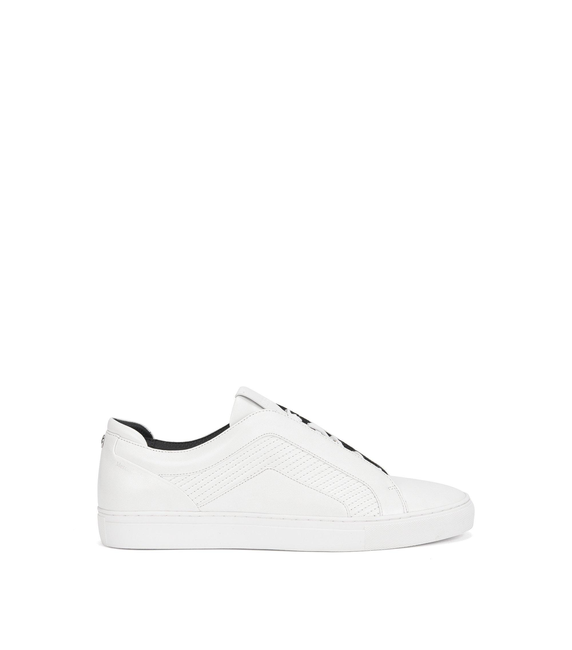 Zapatillas de tenis en piel lisa, Blanco