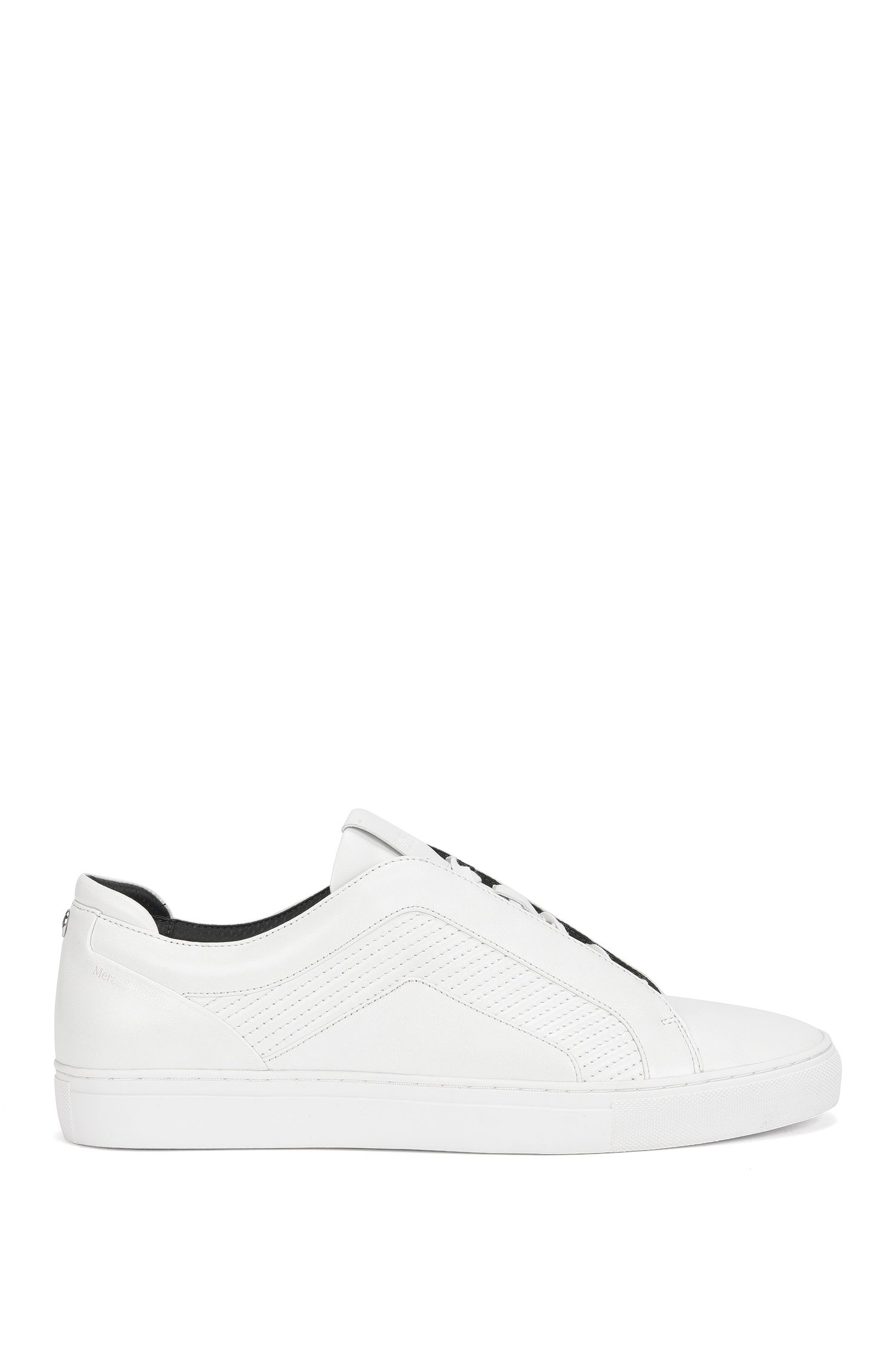 Tennis shoes in smooth leather