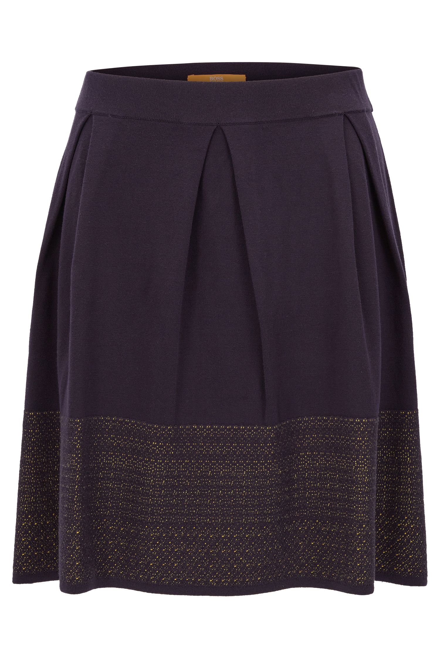 Skater skirt with two-tone jacquard decoration