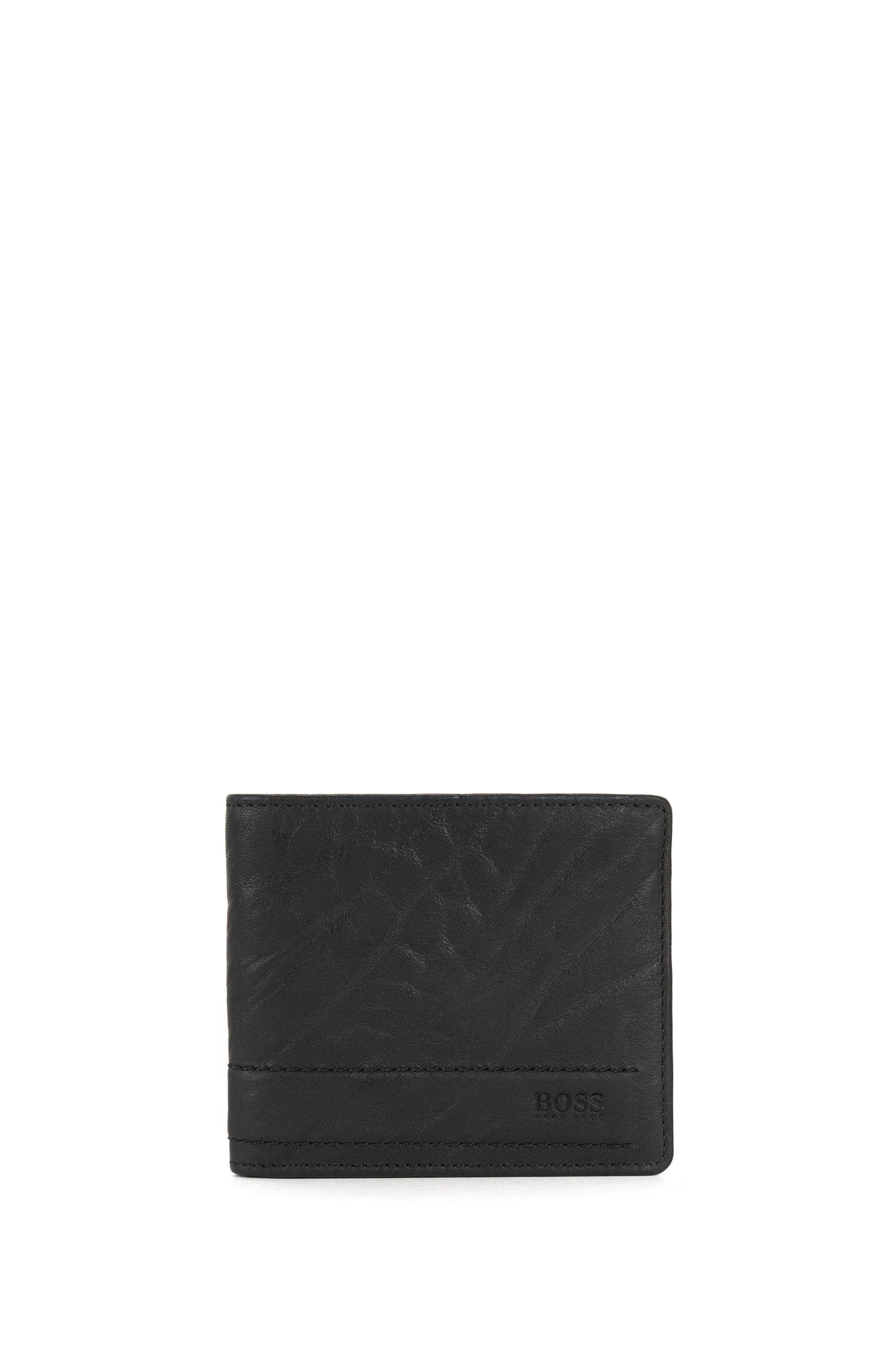 Openklapbare portemonnee van generfd rundleer